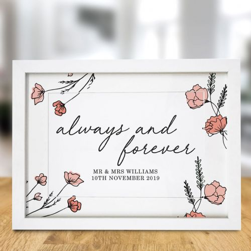 Personalised Always & Forever A4 Framed Print